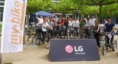 LG전자, 유럽서 '자전거로 출퇴근' 행사 진행