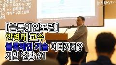 안병태 안양대 교수, '블록체인 기술 어디까지? 개발 현황' #1