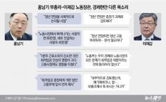 홍남기-이재갑, '정년연장·최저임금' 놓고 미묘한 온도차