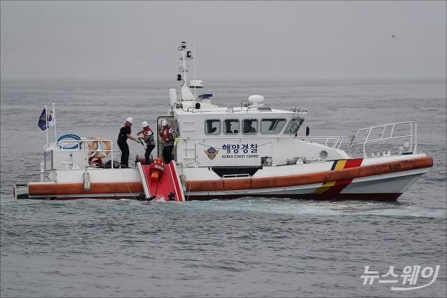 [NW포토]공군·해군·해경 '해상 조난자 합동 탐색구조훈련'