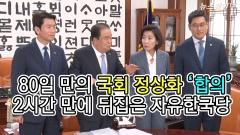 80일 만의 국회정상화 '합의'…2시간 만에 뒤집은 자유한국당