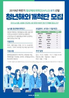 aT, 청년개척단(AFLO) 6기 성과발표회 및 8기 해외파견자 모집