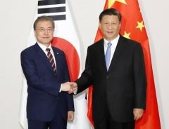 """文대통령 """"中, 미세먼지 해결 협력하자""""…시진핑 """"환경보호 10배 노력 기울여"""""""