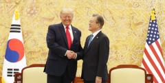 """트럼프, DMZ 방문 기대…""""북한도 만나고 싶어 한다""""(종합)"""