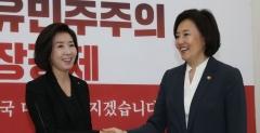 """나경원 만난 박영선 """"비판이 꼭 승리로 연결되지 않는다"""""""