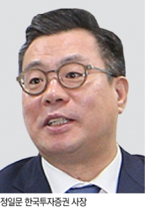 """정일문 한국투자증권 사장 """"욕심·공포 공존하는 금융시장…리스크 관리 철저"""""""