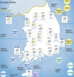 전국 더위 지속…곳곳에 빗방울