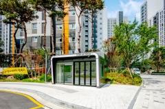 SK건설, 통학버스 대기 공간에  '클린에어 스테이션' 운영