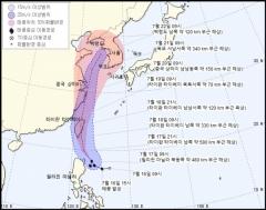 """2019년 태풍 '다나스' 북상, 주말께 영향 받을 듯…""""19∼22일 많은 비"""""""