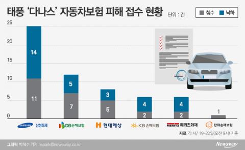 수도권 피해간 '다나스'…車손해율 한숨 돌린 손보업계