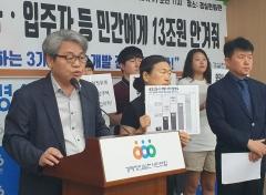 """경실련 """"公, 강제 매입 신도시 땅 장사로 민간만 14억 로또"""""""
