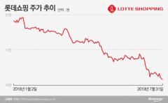 '최악의 7월' 롯데쇼핑, 겹악재에 주가 내리막
