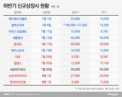 하반기 신규상장사 '호된 신고식'…절반 이상 흥행 저조