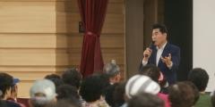 김상돈 의왕시장, 노인공익활동 사업 참여자 '안전 당부'