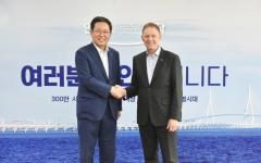 박남춘 인천시장, 필립 터너 주한 뉴질랜드 대사와 교류협력 논의