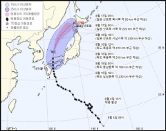 태풍 '크로사' 이동경로는…오늘 자정 독도 동쪽 바다로 지날 듯(종합)