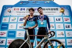 한국국토정보공사 사이클팀, `8·15 양양국제사이클 대회` 단체종합우승