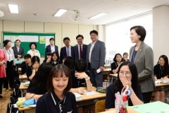 도성훈 인천교육감, 유은혜 교육부장관과 학교 안전 관련 현장 점검