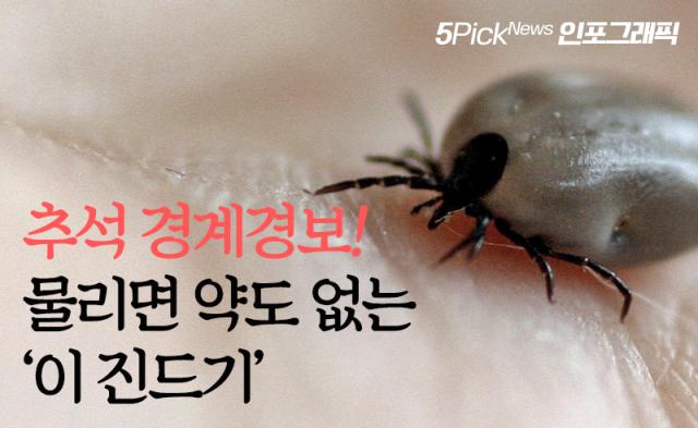 [인포그래픽 뉴스]추석 경계경보! 물리면 약도 없는 '이 진드기'