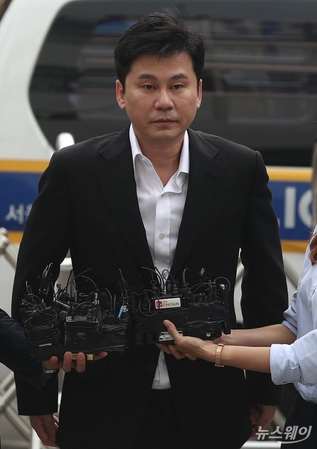 양현석, 성접대 의혹 '혐의 없음' 결론… 불기소 의견 송치
