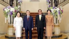 """문 대통령 """"태국은 중요한 신남방정책 파트너…함께 잘살자"""""""""""