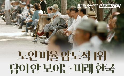 노인 비율 압도적 1위…답이 안 보이는 미래 한국