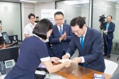 광주은행, 이용섭 광주광역시장과 '필승코리아'펀드 가입
