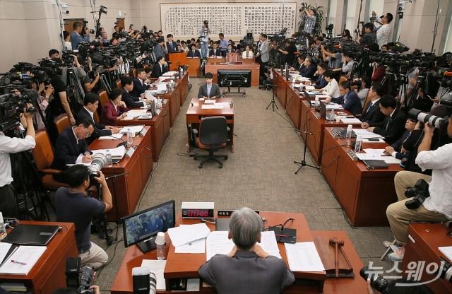[NW포토]조국 법무부 장관 후보자 인사청문회