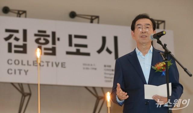 [NW포토]'서울도시건축비엔날레' 개막선언하는 박원순 서울시장