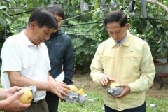 이재준 고양시장, 태풍 '링링' 피해지역 찾아 농업인 위로