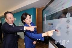 박영선 장관과 박용만 회장, 복지플랫폼 시연