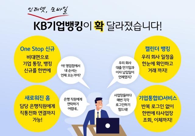 KB국민은행, 기업고객 인터넷·모바일뱅킹 전면 개편