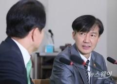 조국 신임 법무부 장관, 민주평화당 예방
