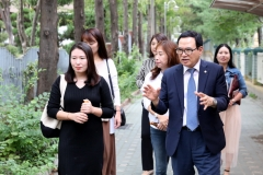 이용범 인천시의회 의장, `신대초` 찾아 태풍 피해현황 점검