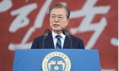 """文대통령 """"서울·평양 공동올림픽 개최에 동포들이 힘 보태달라"""""""
