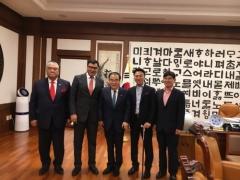 강성종 신한대 총장, 우즈벡 부총리와 문희상 국회의장 예방
