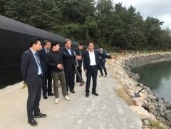 농어촌공사 김인식 사장, 장흥 친환경에너지보급사업 현장 방문