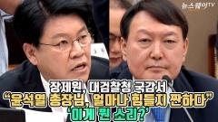 """장제원, 대검찰청 국감서 """"윤석열 총장님, 얼마나 힘들지 짠하다"""" 이게 뭔 소리?"""