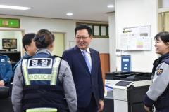 박남춘 인천시장, 석남지구대 방문...경찰관 격려 및 소통의 시간 가져