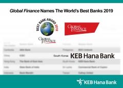 KEB하나은행, 글로벌파이낸스 선정 '대한민국 최우수 은행'
