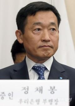'DLF사태' 관련해 국감 출석한 정채봉 우리은행 부행장