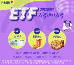 키움증권, 'ETF 스텝바이스텝 이벤트' 개최…첫거래시 경품 지급