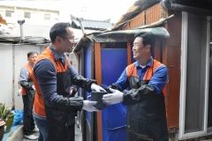 코스콤, 연탄 1만2000장 기부 봉사활동 진행