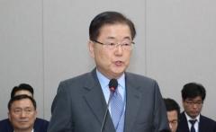 """정의용 """"남북관계, 인내심 필요…대화 협력 재개 위해 노력""""(종합)"""