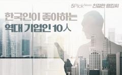 한국인이 좋아하는 기업인 10人