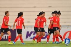 한국 U-19 여자축구, 미얀마 꺾고 AFC 챔피언십 4강 진출