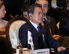 """文, 동아시아정상회의(EAS)서 """"인도태평양 상생협력 힘보탤것"""""""