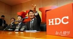 정몽규HDC회장 아시아나인수관련 기자회견