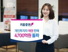 키움증권, 온라인 채권 판매액 4700억원 돌파