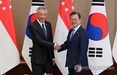 文대통령, 싱가포르 총리 정상회담…평화·우호 협력 논의